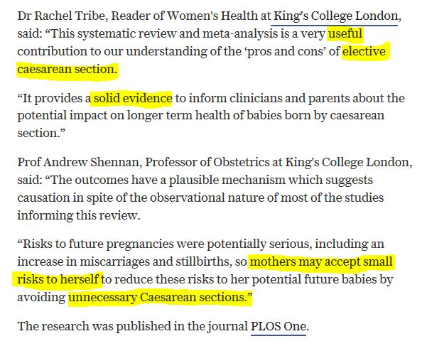 18-Jan-24 Drs Rachel Tribe and Prof Andrew Shennon comments on CS VD study - highlight