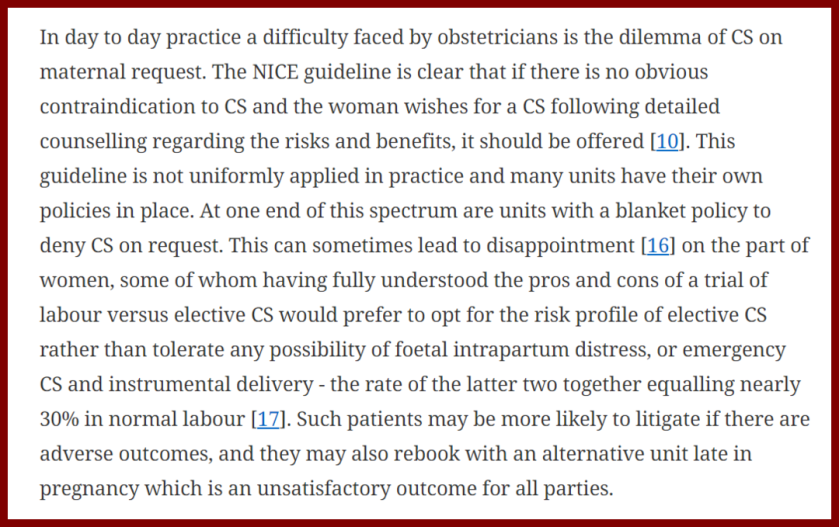 2018 Caesarean section rate and postnatal bed occupancy- a retrospective study replacing assumptions with evidence - extract 3 border