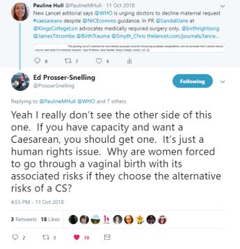 18-Oct-11 twitter tweet Ed Prosser-Snelling maternal request support