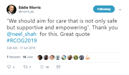 19-Jun-17 RCOG2019 twitter tweet Eddie Morris Neel Shah working together3