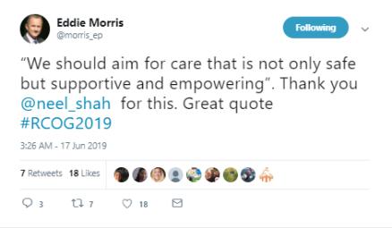 19-Jun-17 RCOG2019 twitter tweet Eddie Morris Neel Shah working together3