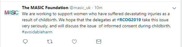 19-Jun-17 RCOG2019 twitter tweet MASIC - hope take informed consent seriously